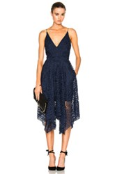 Nicholas Floral Lace Ball Dress In Blue