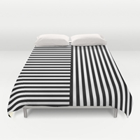 30 Colours Stripes 2 Way Striped Pattern Duvet By Thingsthatsing
