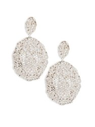 Aurelie Bidermann Vintage Lace Drop Earrings Silver
