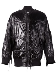 Ktz Drawstring Bomber Jacket Black