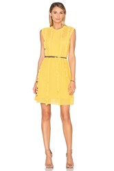 Red Valentino Pointelle Tank Dress Yellow