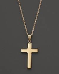 Bloomingdale's 14K Yellow Gold Polished Cross Necklace 18