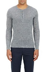 John Varvatos Melange Knit Henley Colorless