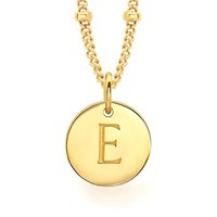 Missoma Women's Initial Charm Necklace E Gold