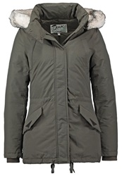 Schott Nyc Freya Down Jacket Dark Khaki