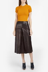 Rachel Comey Ribbed Knit Cropped Top Yellow