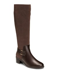 Aerosoles After Hours Suede Knee High Boots Dark Brown