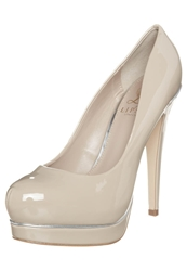 Lipsy Pixie High Heels Patent Nude Pink