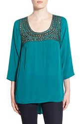Women's Plenty By Tracy Reese Studded Yoke Blouse