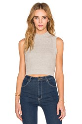 Rolla's Knit Crop Tank Gray