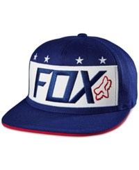 Fox Men's Red White And True Embroidered Logo Hat Indigo