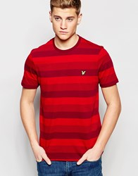 Lyle And Scott T Shirt With Stripe Red
