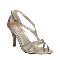 Paradox London Pink Strappy Glitter Vibrant Sandals Gold