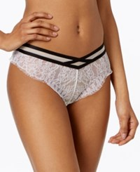 Maidenform Super Sexy Eyelash Lace Cheeky Panties A Macy's Exclusive Style Mfb106 Spring Ivory W Black