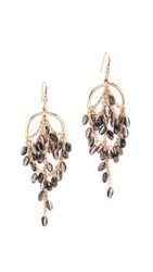 Theia Jewelry Grecian Chandelier Earrings Antique Gold Crystal