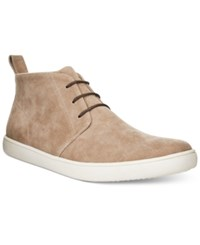 Alfani Men's Kenny Plain Toe Chukka Boots Only At Macy's Men's Shoes Sand
