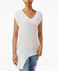 Rachel Rachel Roy V Neck Asymmetrical Hem T Shirt White