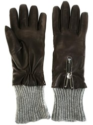 Fabiana Filippi Ribbed Trim Gloves Black