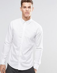 Boss Orange Shirt With Button Down In Slim Fit White White
