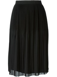Givenchy Sheer Pleated Skirt Black
