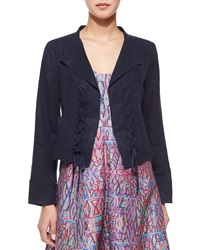 Nanette Lepore Angle Falls Structured Lace Up Jacket