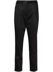 T By Alexander Wang Stretch Satin Trousers Black