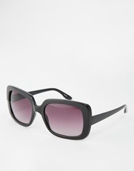 Monki Square Sunglasses Black
