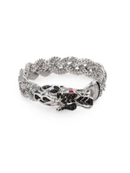John Hardy Naga Black Sapphire And Sterling Silver Dragon Braided Bracelet Silver Black