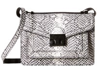 Loeffler Randall Mini Rider Black White Satchel Handbags