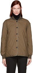 Rag And Bone Green Quilted Addison Jacket