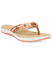 Sperry Seabrooke Surf Flip Flops Women's Shoes Coral Fish Circle