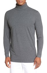 Bobby Jones Men's Long Sleeve Turtleneck T Shirt Charcoal
