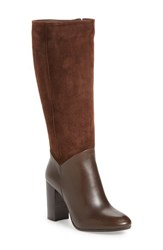 Johnston And Murphy Women's 'Yvonne' Tall Water Resistant Boot Dark Brown