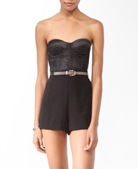 Forever 21 Sweetheart Lace Bustier Black