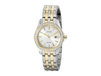 Citizen Ew1908 59A Eco Drive Silhouette Crystal Two Tone Stainless Steel Analog Watches Silver