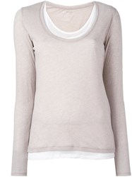 Majestic Filatures Scoop Neck Jersey Nude And Neutrals