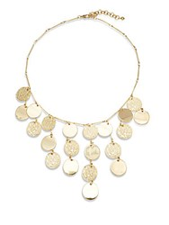 Catherine Malandrino Natural Opulence Textured Disc Necklace Gold
