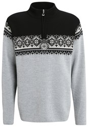 Dale Of Norway St. Moritz Jumper Metal Grey Schiefer Black Off White