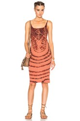 Raquel Allegra Layering Tank Dress In Orange Ombre And Tie Dye Orange Ombre And Tie Dye