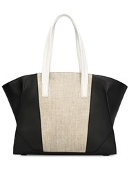 Narciso Rodriguez Large Panelled Tote Black