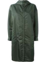 Yohji Yamamoto Single Breasted Coat Green