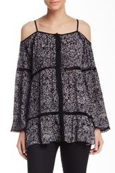 Angie Bell Sleeve Cold Shoulder Blouse Multi