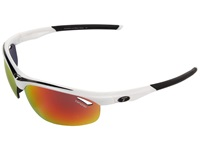 Tifosi Optics Veloce Interchangeable White Black Smoke Red Ac Red Clear Lens Sport Sunglasses