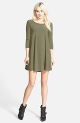 Leith Women's Crepe Trapeze Dress Olive Sarma