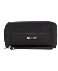 Guess Delaney Large Zip Around Wallet Black