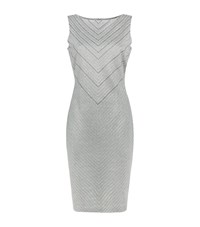 St. John Asha Sequin Knit Dress Female Silver
