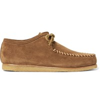 Saint Laurent Cigar Suede Moccasin Shoes Tan