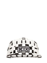 Ktz Two Tone Woven Leather Baseball Hat