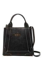 Valentino By Mario Valentino Audrey Saffiano Leather Convertible Satchel Black