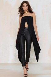 Nasty Gal Lavish Alice Great Lengths Bandeau Top Black